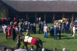 Pre parade ring before the first