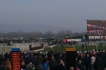 Foxhunter field pass the stands